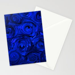 China Blue Rose Abstract Stationery Cards
