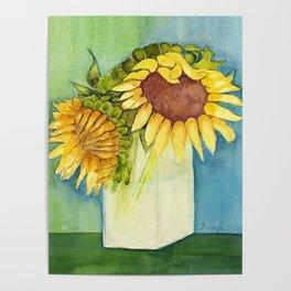 Sleepytime Sunflowers Poster