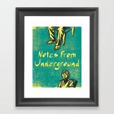 Notes From Underground Framed Art Print