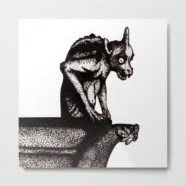 Black Gargoyle Metal Print