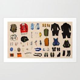 Canyoneering Gear Art Print