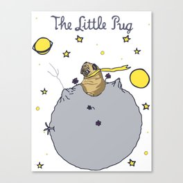 The Little Pug Canvas Print