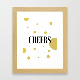 POP FIZZ CLINK Black And Gold Party Decorations Champagne Gift Champagne Quotes Cheers Sign Printabl Framed Art Print