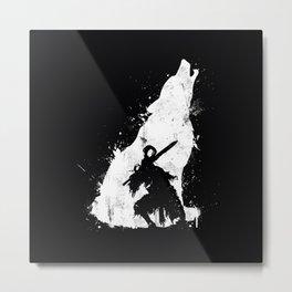 Wolf Knight Metal Print