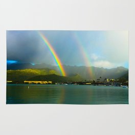 Hawaii Double Rainbow Rug