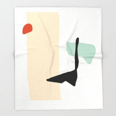 Matisse Shapes 3 Throw Blanket