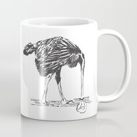 ostrich Mugs featuring Ostrich by TheFrontierProject