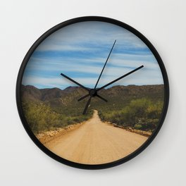 Lonely Road - Apache Trail, Arizona Wall Clock