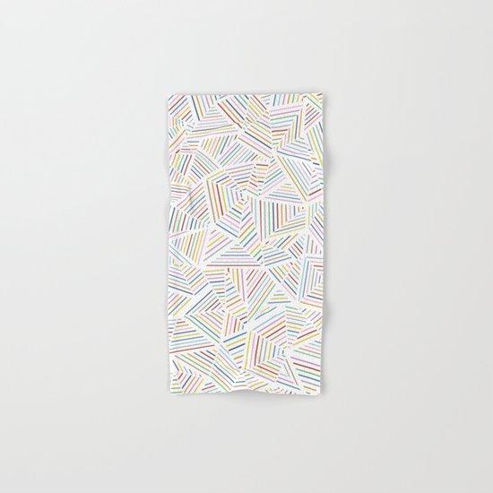 Abstraction Linear Rainbow Hand & Bath Towel