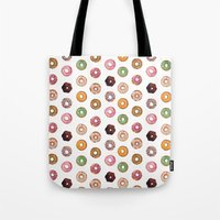 donuts Tote Bags featuring Donuts by BySamantha | Samantha Ranlet