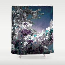 Flowers Purple & Teal Shower Curtain