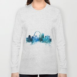 St Louis Missouri Skyline Long Sleeve T-shirt