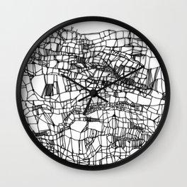 deconstructed knit Wall Clock