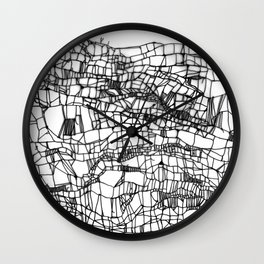deconstructed knit Wall Clock
