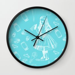 Alice in Wonderland and Jars Wall Clock