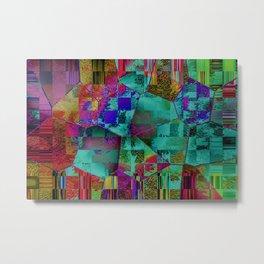 Abstract Hexagons Metal Print