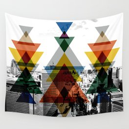 City totem Wall Tapestry