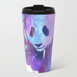 Watercolor Panda in Purple Travel Mug