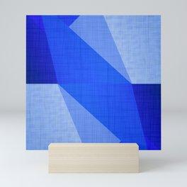 Lapis Lazuli Shapes - Cobalt Blue Abstract Mini Art Print