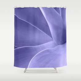 Periwinkle Succulent Shower Curtain