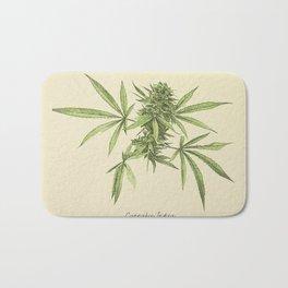 Vintage botanical print - Cannabis Bath Mat