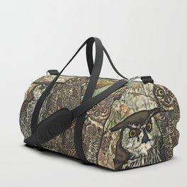 My owls in batik style Duffle Bag
