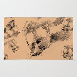 Totem Spotted skunk (Spilogale) Rug