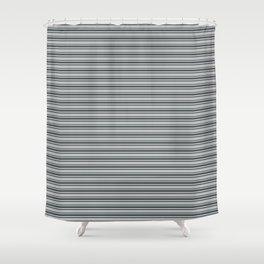 Benjamin Moore Hale Navy Blue Gray Triple Horizontal Stripes on Color of the Year 2019 Metropolitan Shower Curtain