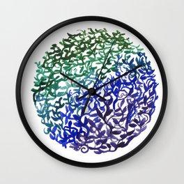 Botanical Medallion Wall Clock