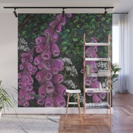 Foxgloves and Cow Parsley Wall Mural