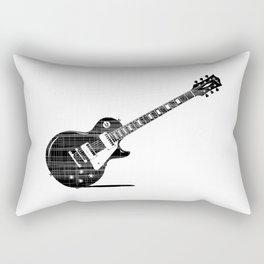 Black Guitar Rectangular Pillow