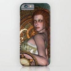 Steampunk, beautiful steampunk women Slim Case iPhone 6s