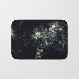 Infinity Particles Abstract Bath Mat