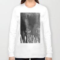 bleach Long Sleeve T-shirts featuring Bleach B&W by Sparky