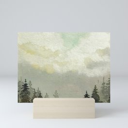Spruce Trees After The Storm Mini Art Print