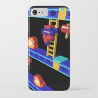 donkey kong iPhone & iPod Cases featuring Inside Donkey Kong stage 4 by Metin Seven
