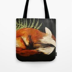 Fox Folk Tote Bag