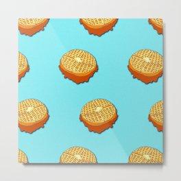 Waffles on Waffles Metal Print