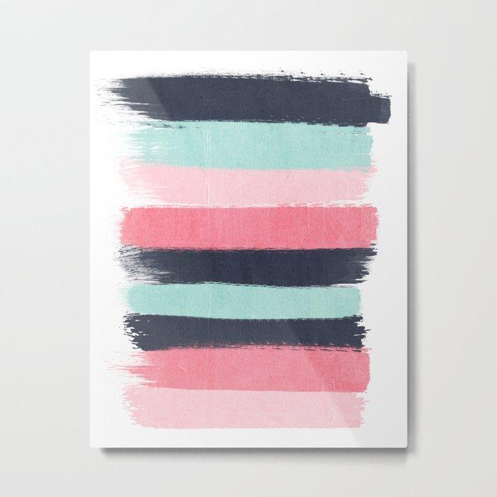 Cecily - abstract paint brush strokes paintbrush brushstrokes boho chic trendy modern minimal  Metal Print