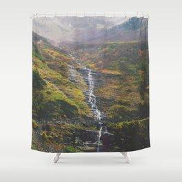 Bird Woman Falls Shower Curtain