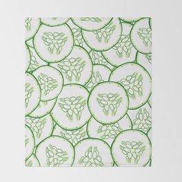 Cucumber slices pattern design Throw Blanket