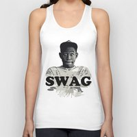 tyler the creator Tank Tops featuring Tyler The Creator SWAG by Misadventures