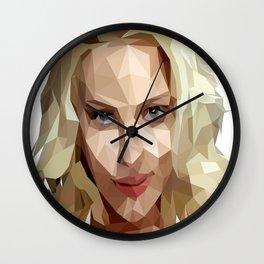 Scarlett Johansson Low Poly Art Wall Clock