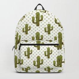 Mixed media cactus Backpack