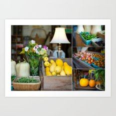 Organic produce Art Print