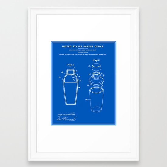 Cocktail shaker patent blueprint framed art print by finlaymcnevin cocktail shaker patent blueprint framed art print by finlaymcnevin society6 malvernweather Image collections