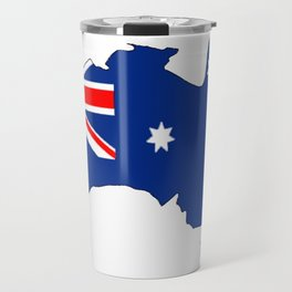 Australia Map with Australian Flag Travel Mug