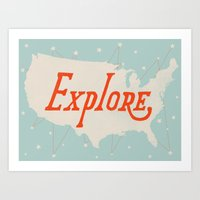 explore Art Prints featuring Explore by Landon Sheely