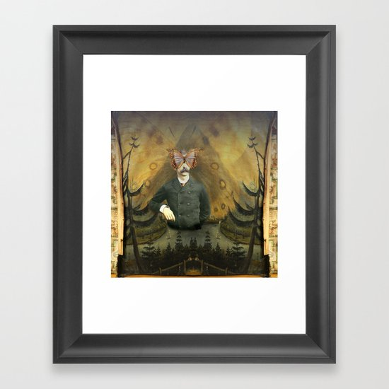 Lepidopterologist at Rest  Framed Art Print