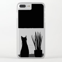 Kitty in the Window Clear iPhone Case